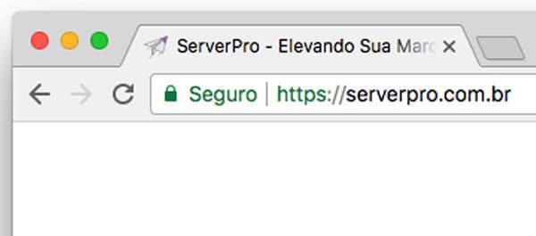 Exemplo de Site com Certificado de Segurança no Google Chrome