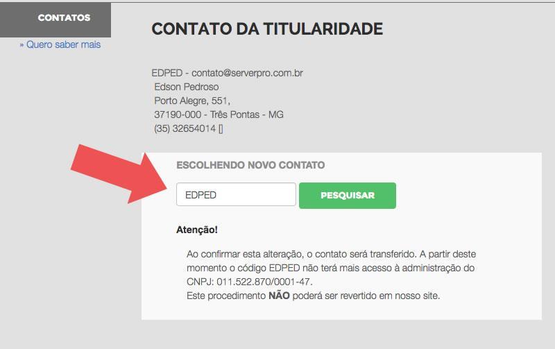 Alterar titularidade do seu CPF ou CNPJ no Registro.BR para Registro de Domínio